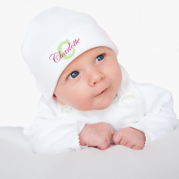 13aca016 Personalized Baby Hat with Monogram & Baby's Name