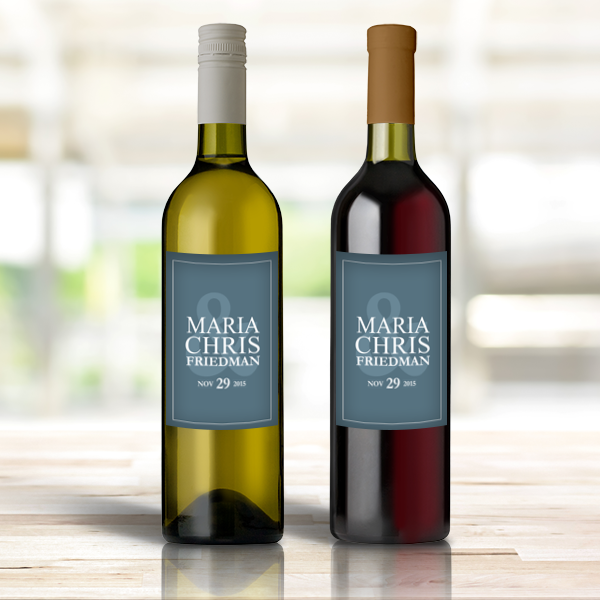 Personalized Wine Bottle Labels Mr. & Mrs. Custom Wedding ...
