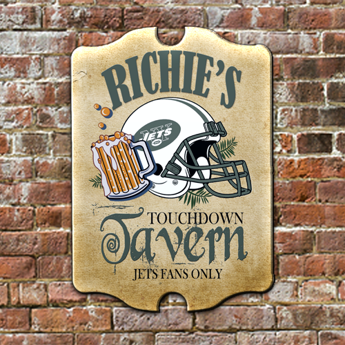 Personalized Pub Sign Ny Jets Football Fans Antique Style