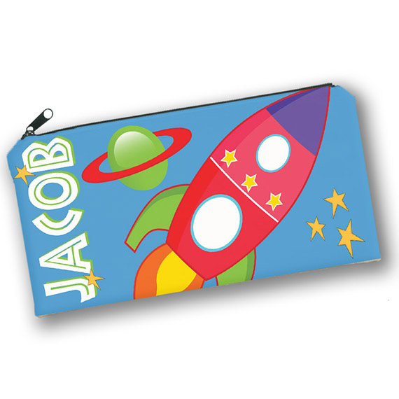 Rocket Ship Outer Space Theme Kids Personalized Pencil