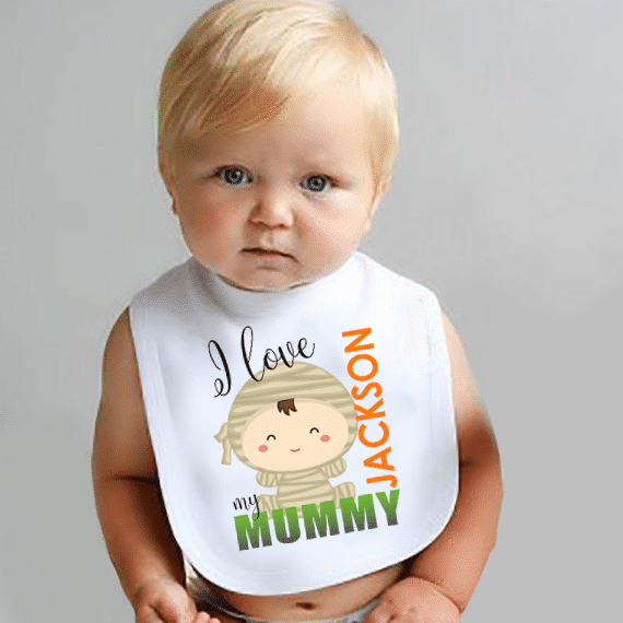 Personalized Handed Made Baby Bib Mummy #1