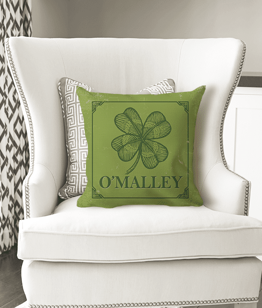Pif tp 10020 custom personalized irish family name monogram throw accent pillow decor by