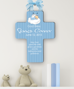 PIF-BCP00001 Personalized Christening Cross for Baptism, Communion or Confirmation by Personalize it FREE