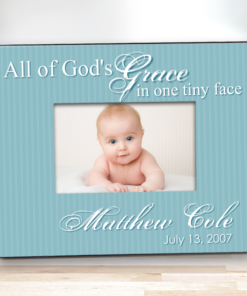PIF-PF00001 Gods Grace Personalized Boy 8x10 Picture Keepsake Baby Frame by Personalize it FREE