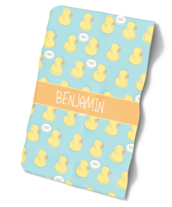 Baby Duckies Boys or Girls Blue Personalized Baby Bib Blanket Set by Personalize it FREE