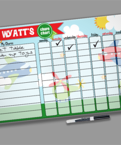 Transportation Theme Airplanes Kids Personalized Chore Chart by Personalize it FREE