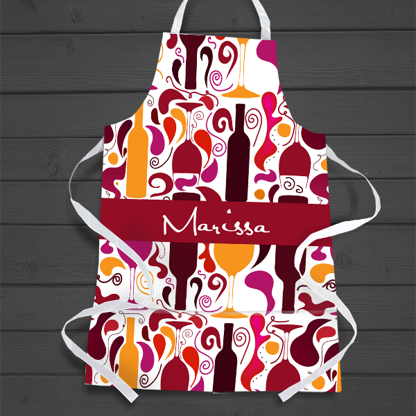 PIF-AAPR00001 Personalized Apron Wine Bottles Wine Lovers by Personalize it FREE