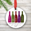 PIF-ORN00001 Best Friends Personalized Ornament for Christmas Holidays by Personalize it FREE