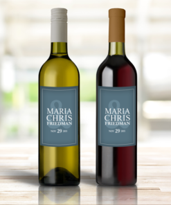 PIF-WINEL00001 Personalized Wine Bottle Labels Wedding Mr/Mrs by Personalize it FREE