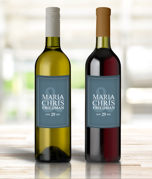 Pif Winel00001 Personalized Wine Bottle Labels Wedding Mr Mrs By Personalize It Free