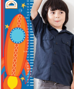 PK-GC00016 Personalized Growth Chart Outer Space Rocket Ship Wall Decor by Personzalize it FREE