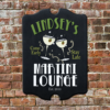 W2W-B00001 Wood Martini Lounge Game Room Home Bar Tavern Personalized Pub Sign by Personalize it FREE