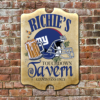 W2W-B000021 Wood NY Giants Fan Touchdown Tavern Game Room Home Bar Tavern Personalized Pub Sign by Personalize it FREE