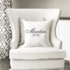 WW-WEDP00001 Personalized Wedding Throw Pillow Keepsake Monogram Gift Idea by Personalize it FREE