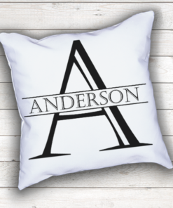 WW-WEDP00002 Personalized Wedding Throw Pillow Keepsake Monogram Gift Idea by Personalize it FREE