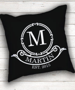 WW-WEDP00006 Personalized Wedding Throw Pillow Keepsake Monogram Gift Idea by Personalize it FREE