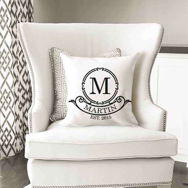 WW-WEDP00007 Personalized Wedding Throw Pillow Keepsake Monogram Gift Idea by Personalize it FREE