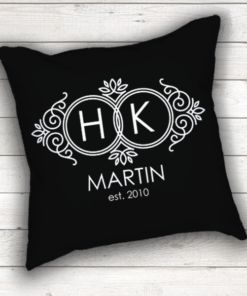 WW-WEDP00008 Personalized Wedding Throw Pillow Keepsake Monogram Gift Idea by Personalize it FREE