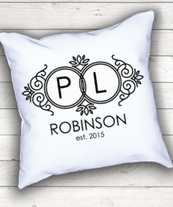 WW-WEDP00009 Personalized Wedding Throw Pillow Keepsake Monogram Gift Idea by Personalize it FREE