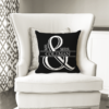 WW-WEDP00013 Personalized Wedding Throw Pillow Keepsake Monogram Gift Idea by Personalize it FREE