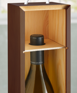 Personalized Wine Gift Box Tote Mahogany Wood by Personalize it FREE