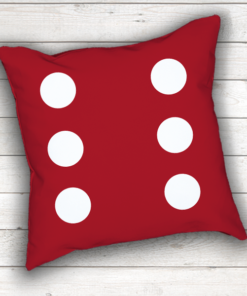 PIF-TP-10001 Custom Personalized Black Dice Shape Pillow Game Room Decor by Personalize it FREE
