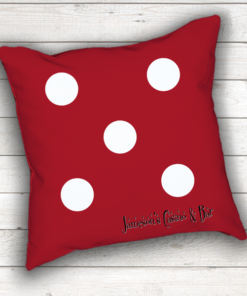PIF-TP-10002 Custom Personalized Black Dice Shape Pillow Game Room Decor by Personalize it FREE