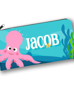 PK-PC00001 UNDER THE SEA OCTOPUS Kids Back to School Personalized Pencil Case Holder by Personalize it FREE