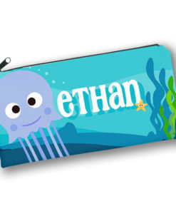 PK-PC00002 UNDER THE SEA SQUID Kids Back to School Personalized Pencil Case Holder by Personalize it FREE