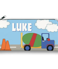 PK-PC00005 CEMENT TRUCK CONSTRUCTION Kids Back to School Personalized Pencil Case Holder by Personalize it FREE