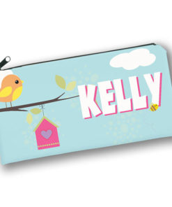 PK-PC00009 Tweet Dreams Birdhouse Kids Back to School Personalized Pencil Case Holder by Personalize it FREE