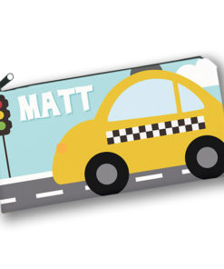 PK-PC00013 TAXI CAB TRANSPORTATION Kids Back to School Personalized Pencil Case Holder by Personalize it FREE