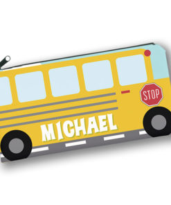 PK-PC00014 SCHOOL BUS TRANSPORTATION Kids Back to School Personalized Pencil Case Holder by Personalize it FREE