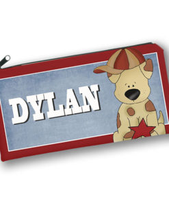 PK-PC00020 ALL STAR SPORTS DOG Kids Back to School Personalized Pencil Case Holder by Personalize it FREE