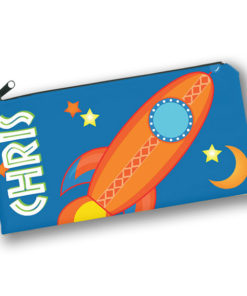 PK-PC00027 OUTER SPACE ROCKET SHIP Kids Back to School Personalized Pencil Case Holder by Personalize it FREE