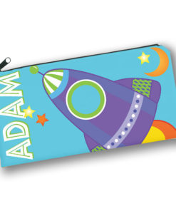 PK-PC00028 OUTER SPACE ROCKET SHIP Kids Back to School Personalized Pencil Case Holder by Personalize it FREE
