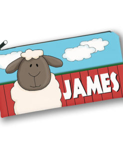 PK-PC00030 SHEEP BARNYARD FARM ANIMALS Kids Back to School Personalized Pencil Case Holder by Personalize it FREE