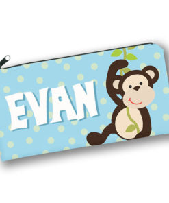 PK-PC00033 MONKEY BUSINESS Kids Back to School Personalized Pencil Case Holder by Personalize it FREE