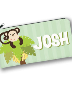 PK-PC00034 MONKEY BUSINESS Kids Back to School Personalized Pencil Case Holder by Personalize it FREE