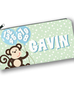 PK-PC00035 MONKEY BUSINESS Kids Back to School Personalized Pencil Case Holder by Personalize it FREE