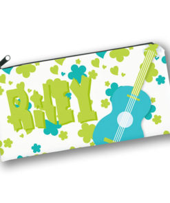 PK-PC00045 70S GUITAR FLOWER POWER HIPPIE THEME Kids Back to School Personalized Pencil Case Holder by Personalize it FREE