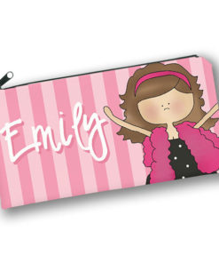 PK-PC00049 PINK FASHION DIVA GIRLS Kids Back to School Personalized Pencil Case Holder by Personalize it FREE