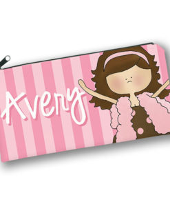 PK-PC00051 PINK FASHION DIVA GIRLS Kids Back to School Personalized Pencil Case Holder by Personalize it FREE
