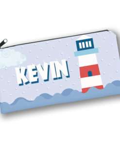 PK-PC00055 LIGHT HOUSE NAUTICAL THEME Kids Back to School Personalized Pencil Case Holder by Personalize it FREE