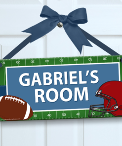 PK-SIG00016 FOOTBALL STAR Personalized Kids Room Wall Door Sign by Personalize It FREE
