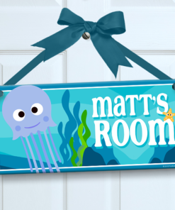 PK-SIG00019 UNDERWATER SEA LIFE Personalized Kids Room Wall Door Sign by Personalize It FREE