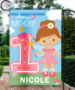 SGF-00054 1ST FIRST BIRTHDAY Custom Personalized Birthday Banner Flag Decor by Personalize it FREE