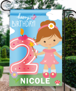 SGF-00054 2ND SECOND BIRTHDAY Custom Personalized Birthday Banner Flag Decor by Personalize it FREE