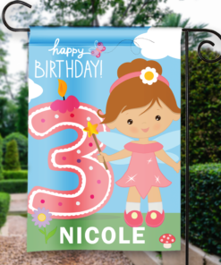 SGF-00054 3RD THIRD BIRTHDAY Custom Personalized Birthday Banner Flag Decor by Personalize it FREE