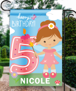 SGF-00054 5TH FIFTH BIRTHDAY Custom Personalized Birthday Banner Flag Decor by Personalize it FREE